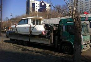 перевозка катеров и яхт манипулятором Москва