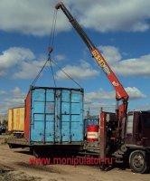 перевозка контейнера манипулятором