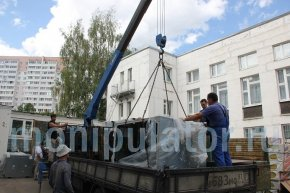 Перевозка манипулятором вентиляционного оборудования